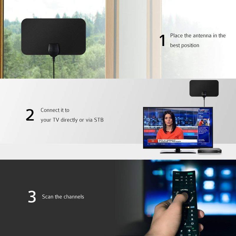 Телевизионная антенна комнатная HD TV 25 дцб для цифрового DVB T2 - Фото 6