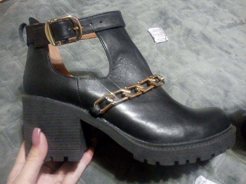 Кожаные,новые ботиночки, туфли - Фото 4