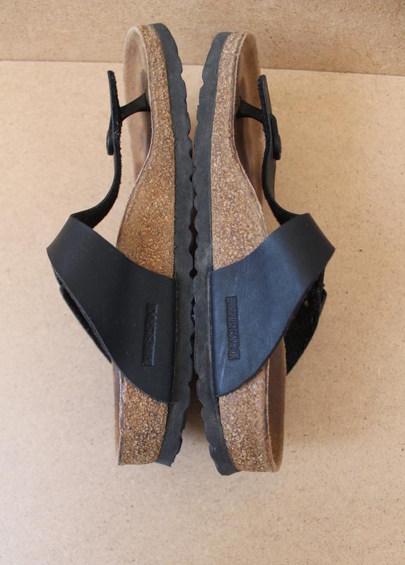 Birkenstok босоножки женские кожаные черные - Фото 3