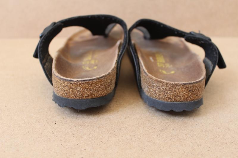 Birkenstok босоножки женские кожаные черные - Фото 5