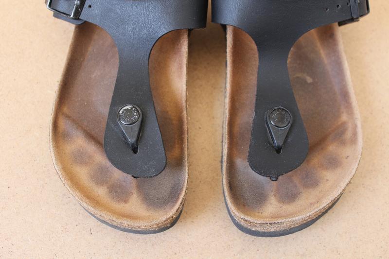 Birkenstok босоножки женские кожаные черные - Фото 6