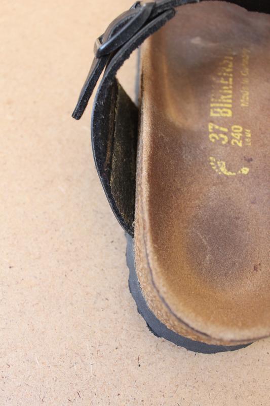 Birkenstok босоножки женские кожаные черные - Фото 8