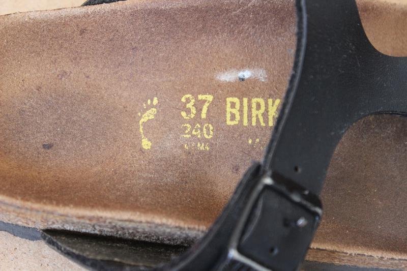 Birkenstok босоножки женские кожаные черные - Фото 9
