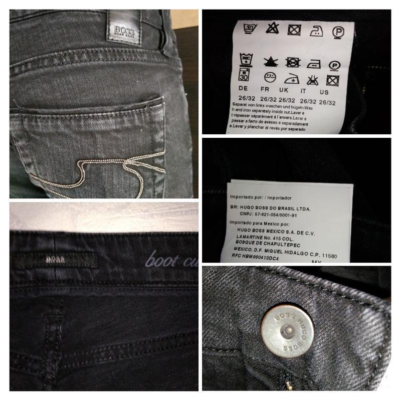 Hugo boss джинсы  брендовые с металлическим декором на карманах - Фото 5