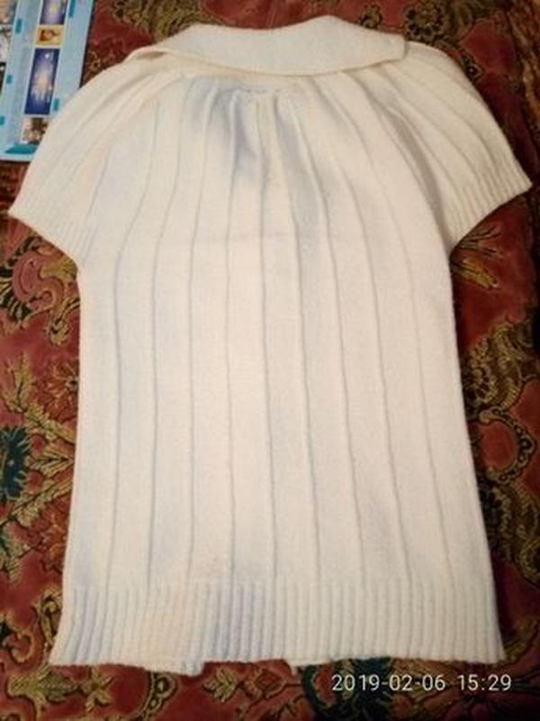 Кофта-жилет для девочки - Фото 4