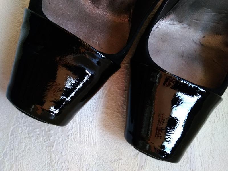 Laceys london шикарные модельные  туфли замшевые с лаковым нос... - Фото 2