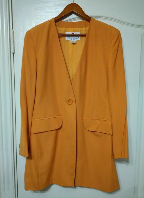 Deni cler яркий натуральный пиджак  удлиненный ☀️☀️ ☀️