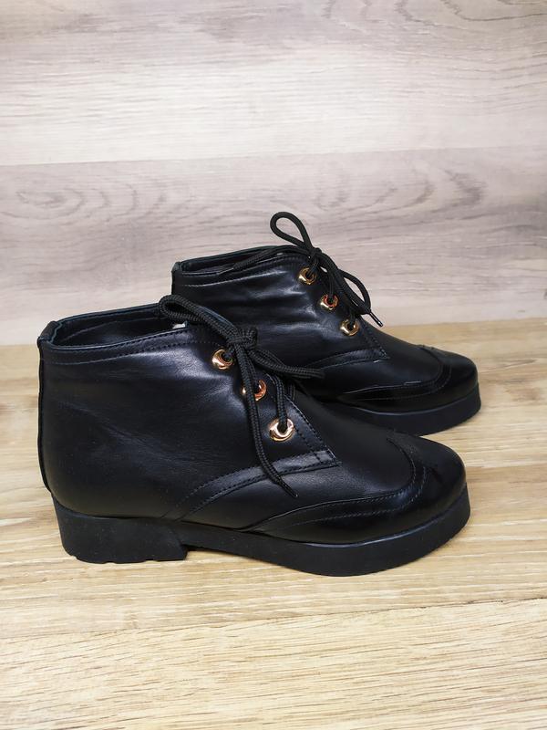 Кожаные зимние  ботинки женские , 37 размер , зимние  ботинки ...