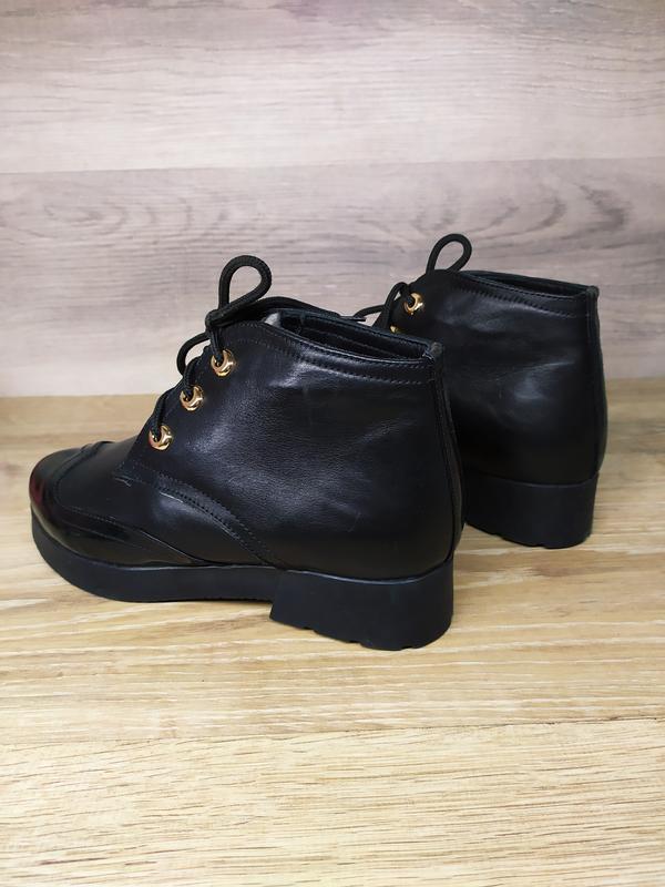 Кожаные зимние  ботинки женские , 37 размер , зимние  ботинки ... - Фото 2