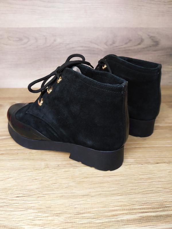 Замшевые  зимние  ботинки женские , 37 размер , зимние  ботинк... - Фото 3