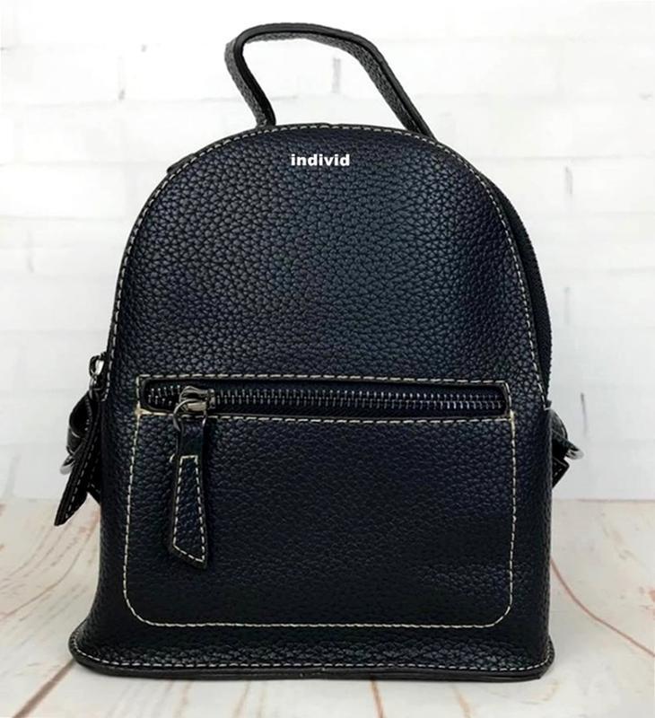 Мини рюкзак. женская кожаная сумка. женский портфель. маленьки...