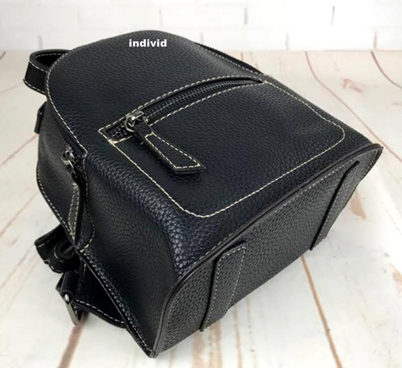 Мини рюкзак. женская кожаная сумка. женский портфель. маленьки... - Фото 2