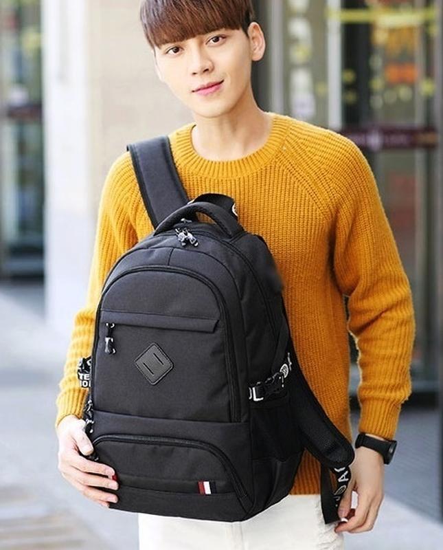 Мужской рюкзак под ноутбук. сумка портфель. городской практичн... - Фото 2