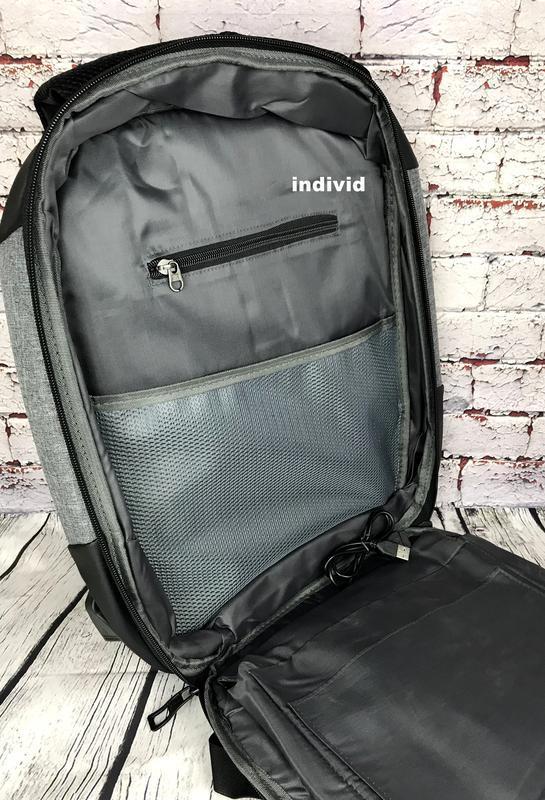 """Городской рюкзак  """"антивор"""" с отделением для ноутбука. мужская... - Фото 5"""