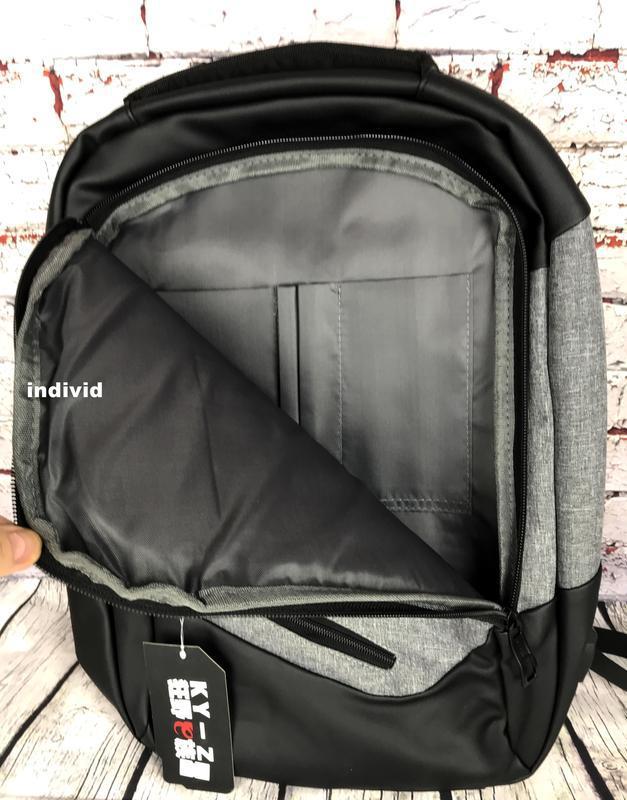 """Городской рюкзак  """"антивор"""" с отделением для ноутбука. мужская... - Фото 8"""