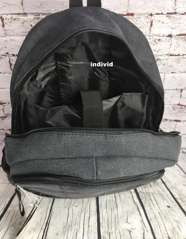 Городской рюкзак из холста. новый качественный рюкзак. мужская... - Фото 4