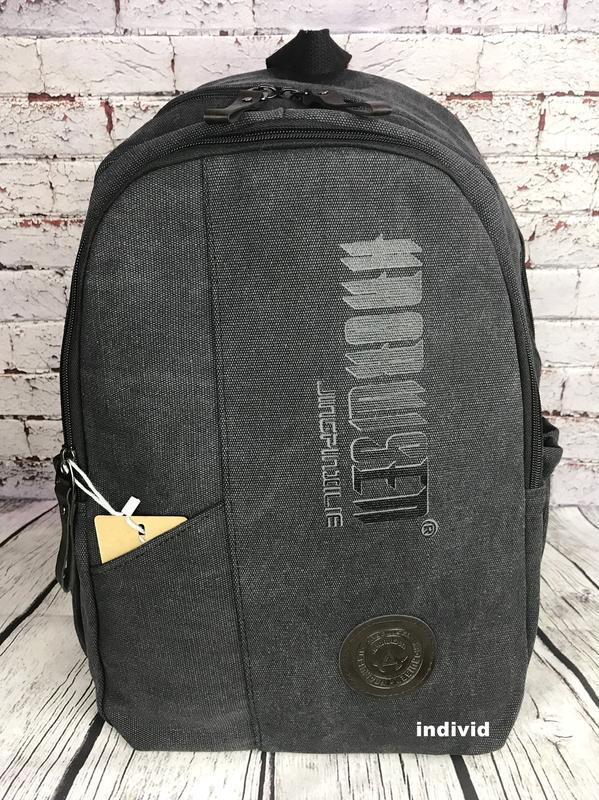 Городской рюкзак из холста. новый качественный рюкзак. мужская... - Фото 6