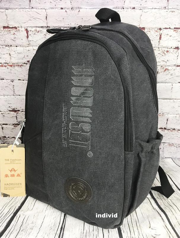 Городской рюкзак из холста. новый качественный рюкзак. мужская... - Фото 8