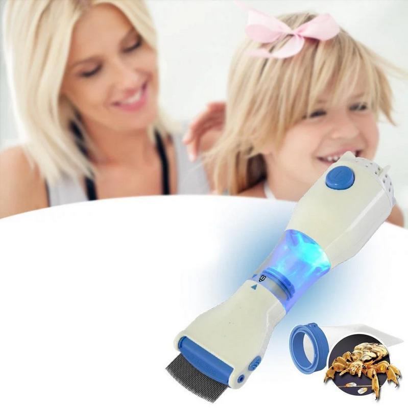 Электрическая расческа для удаления вшей и блох Licetec V-Comb