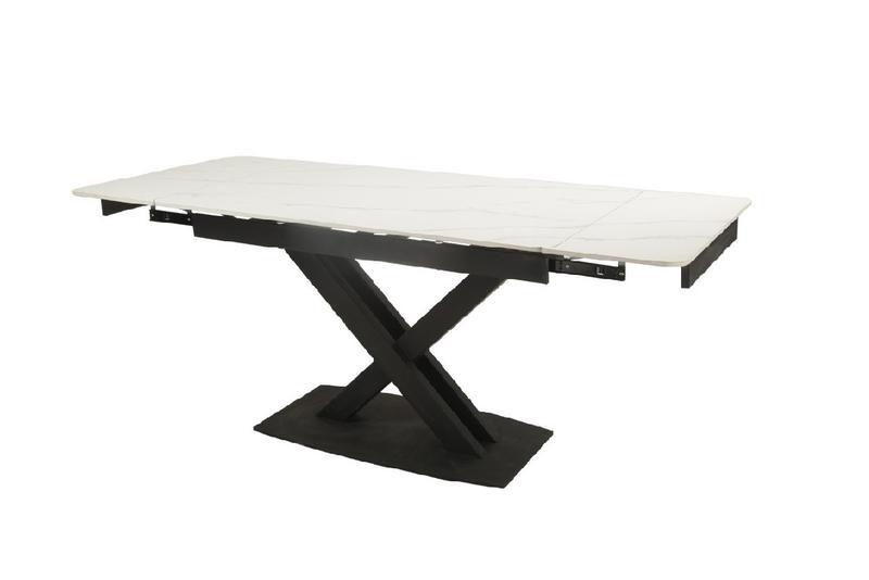 Керамический стол TML-817-1 белый мрамор