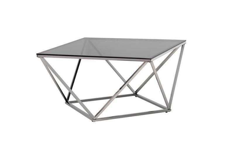Журнальный стол CP-1 тонированный + серебро