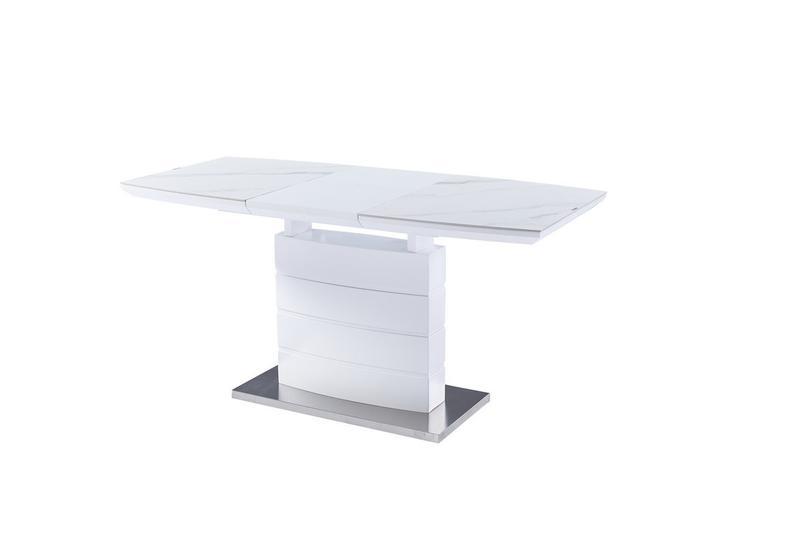 Керамический стол TML-850 белый мрамор