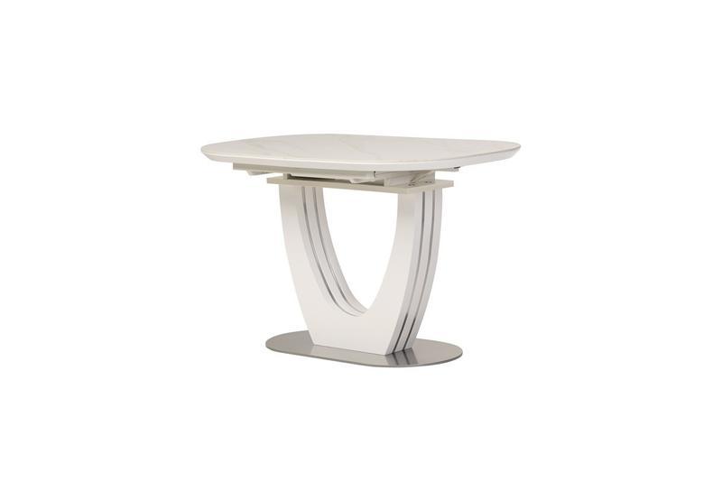 Керамический стол TML-866 белый мрамор