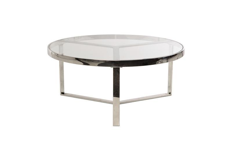 Журнальный стол CB-1 прозрачный + серебро