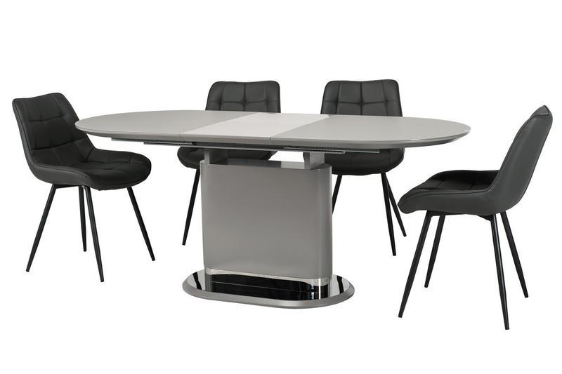 Стол МДФ+матовое стекло TMM-56 серый