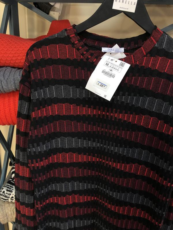 Платье миди в рубчик от zara - Фото 5