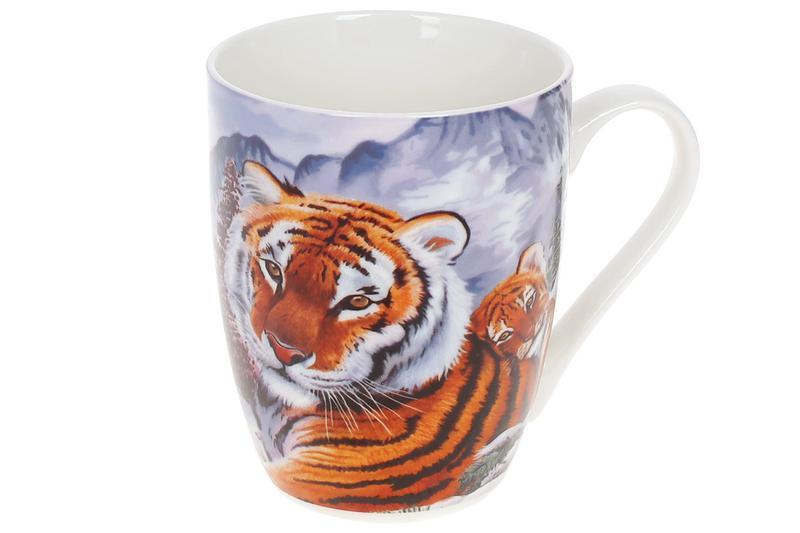 Кружка фарфоровая Тигр с тигрёнком, 380мл BonaDi RM3-777 ТОВАР...