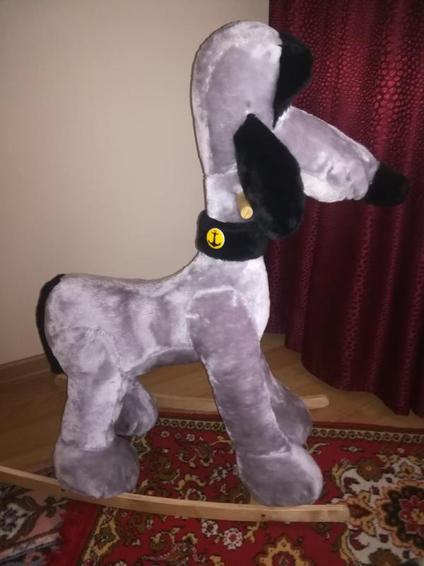 Мягкая игрушка собака-качалка - Фото 2