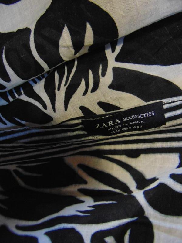 Коттоновый шарф, парео zara. - Фото 2