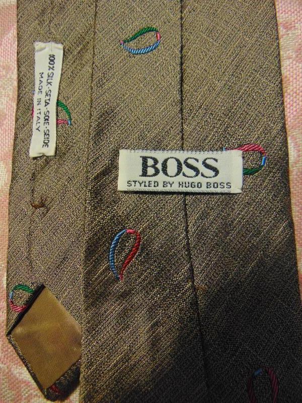 Шелковый галстук boss. - Фото 2