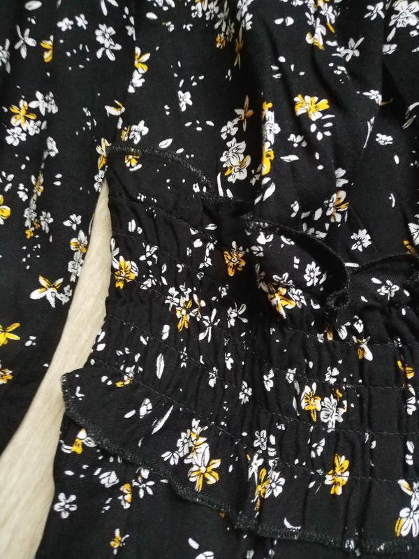 Актуальное платье макси в цветочный принт - Фото 6