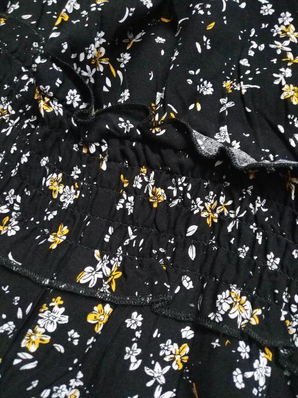 Актуальное платье макси в цветочный принт - Фото 8