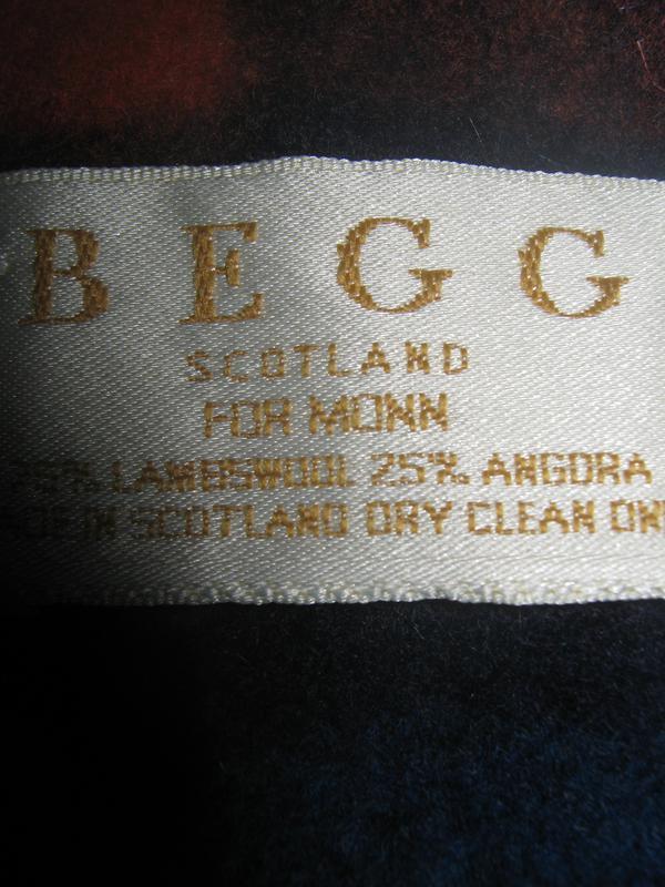 Тёплый мягкий шарф, шерсть+ангора, begg, scotland. - Фото 2