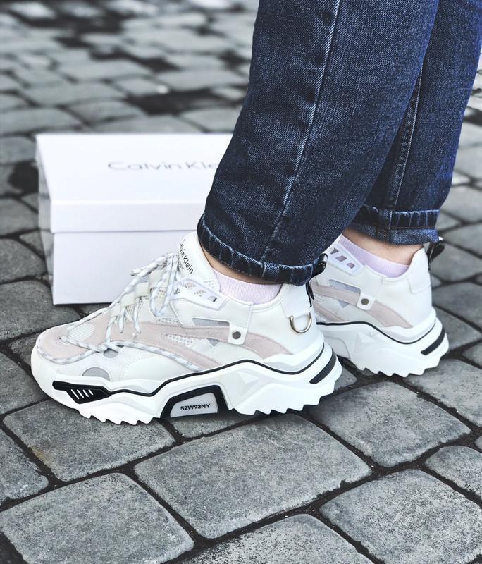 Calvin klein strike 205 white шикарные женские кроссовки келви...