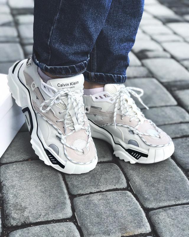 Calvin klein strike 205 white шикарные женские кроссовки келви... - Фото 4