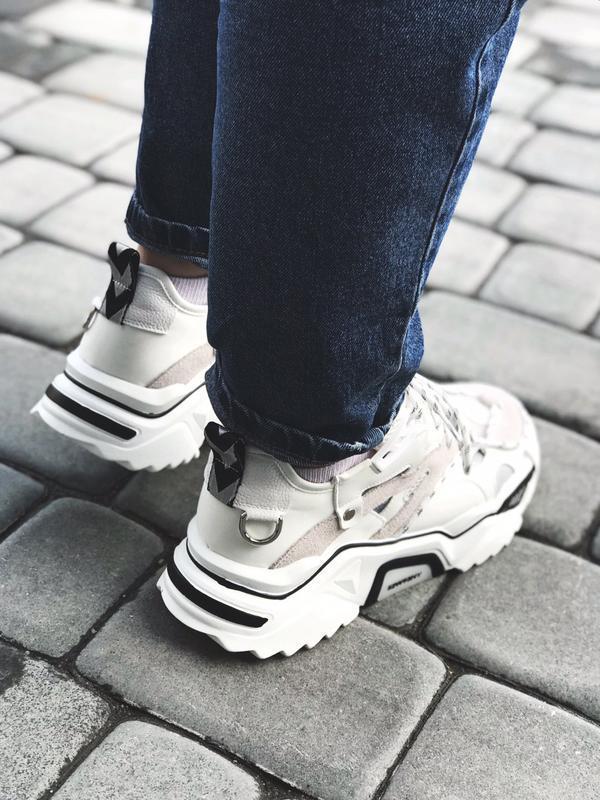 Calvin klein strike 205 white шикарные женские кроссовки келви... - Фото 6