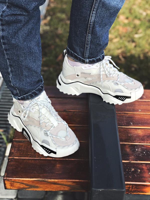 Calvin klein strike 205 white шикарные женские кроссовки келви... - Фото 7