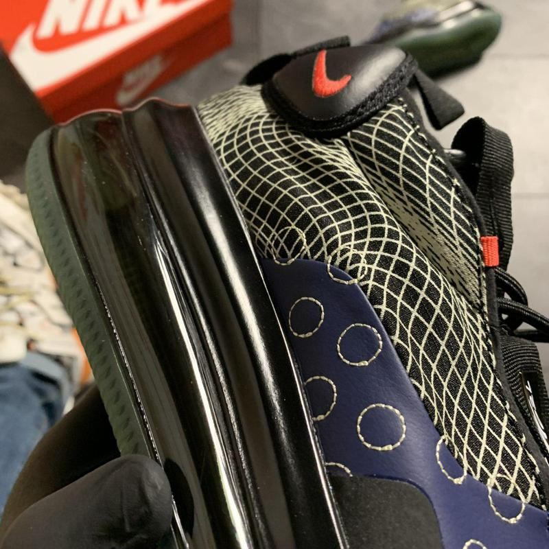Nike air max 720 sneakerboots black blue. - Фото 6