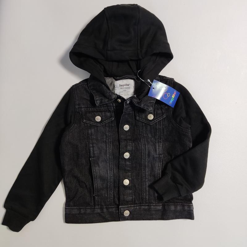 Джинсовая куртка еа мальчика 3-4 года 104см lupilu