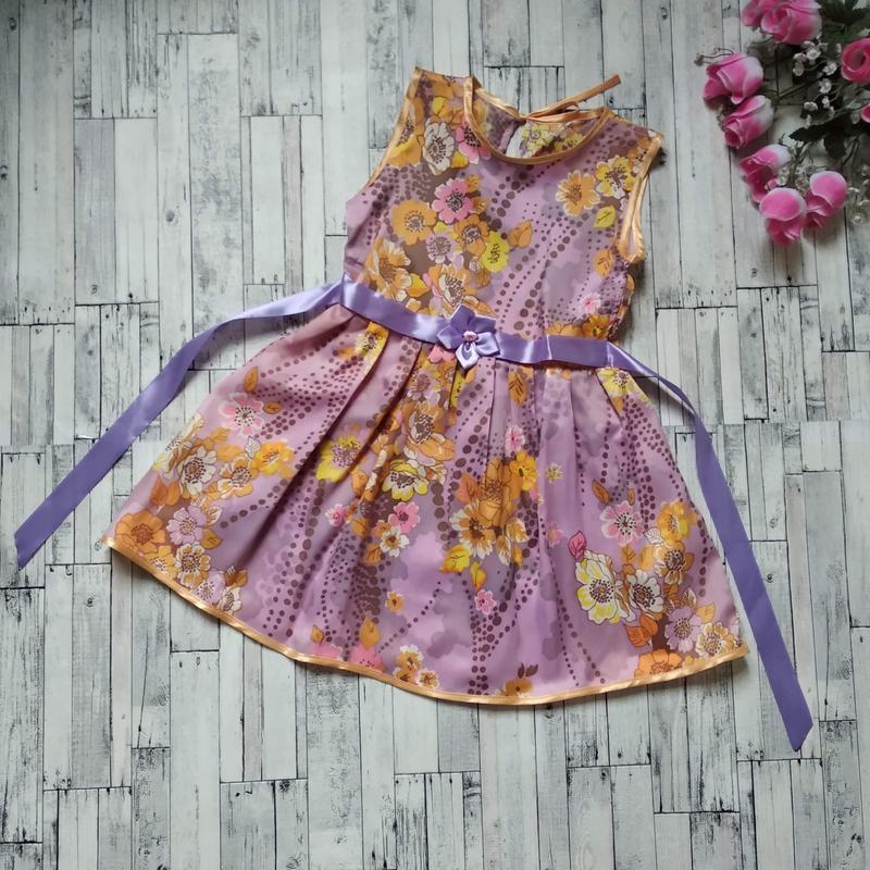 Платье на девочку 5-6 лет ручная работа