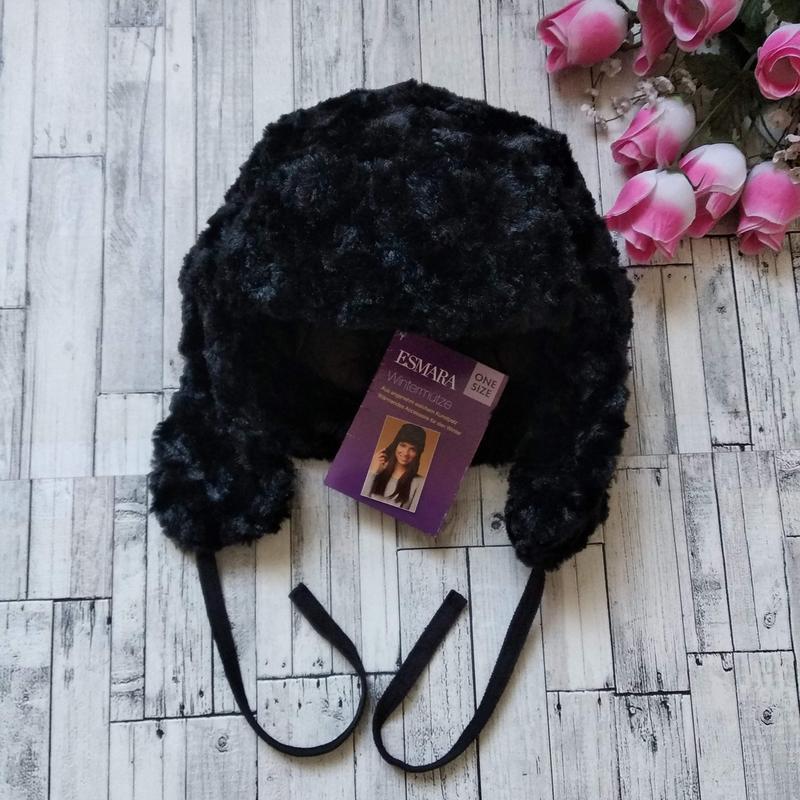 Зимняя шапка ушанка esmara женская - Фото 2