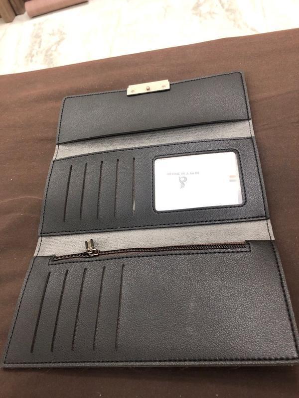 Стильный женский черный кошелек - Фото 4
