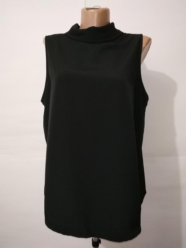 Блуза черная новая базовая papaya uk 16/44/xl