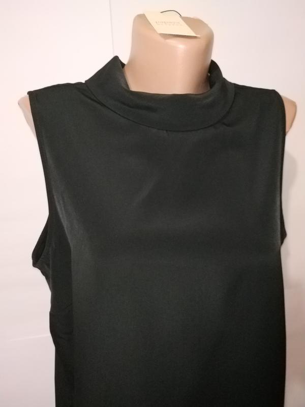 Блуза черная новая базовая papaya uk 16/44/xl - Фото 2