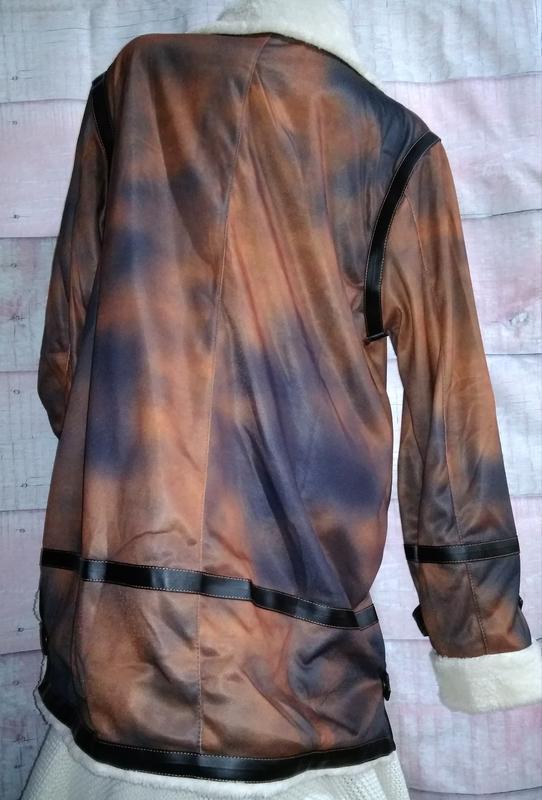 Куртка тонкая имитация дублёнки батал 3xl - Фото 2