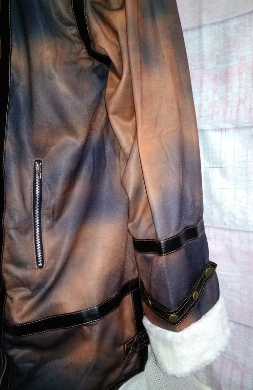 Куртка тонкая имитация дублёнки батал 3xl - Фото 7